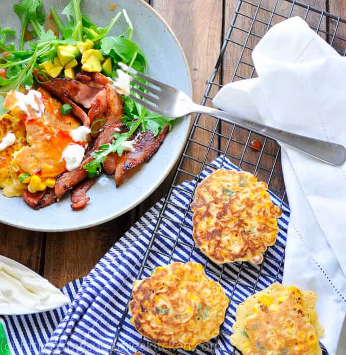 Healthy Breakfast | 5 Ingredient Sweetcorn Fritters | Low Carb | Low Fat | Sugar Free
