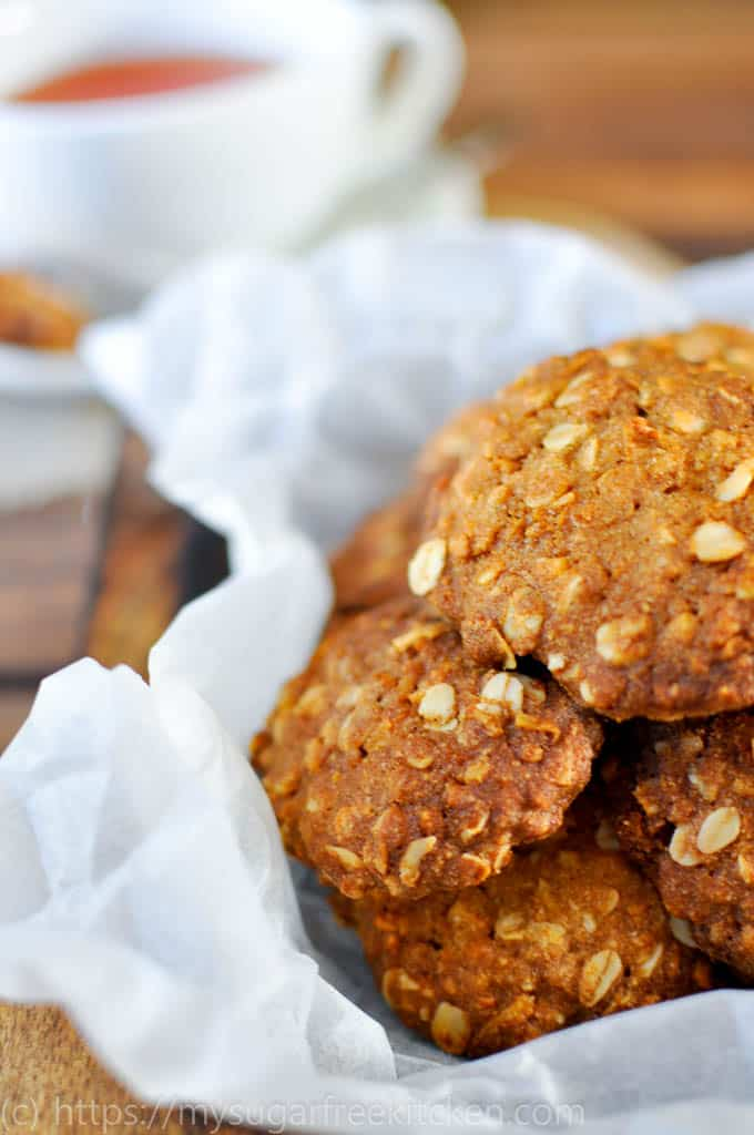 A remake of the traditional Aussie classic the anzac bsicuit that is sugar free and healthy.