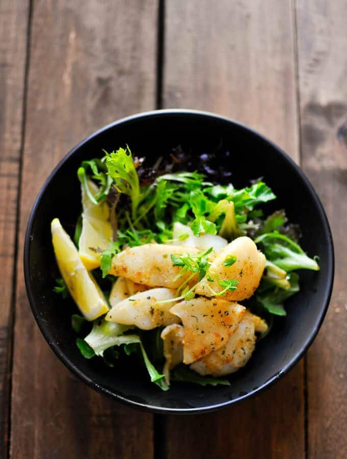 Salt and Pepper Squid Salad
