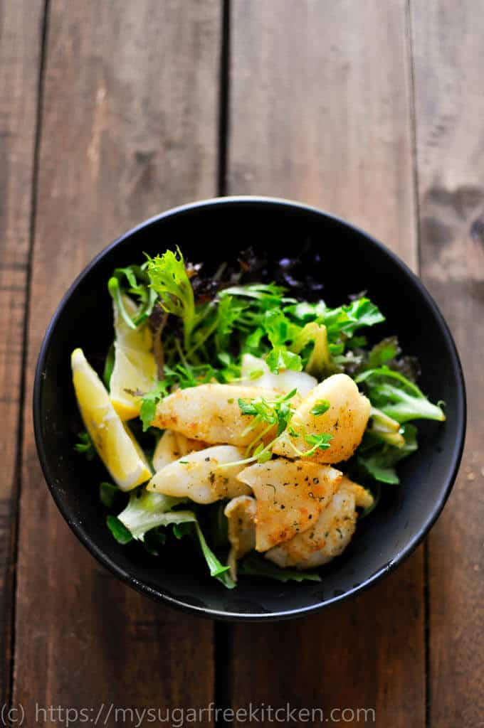 This healthy salt and pepper squid salad is quick and easy to make and is the perfect weekend lunch