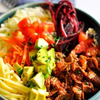 Pressure Cooker Mexican Beef Taco Bowls