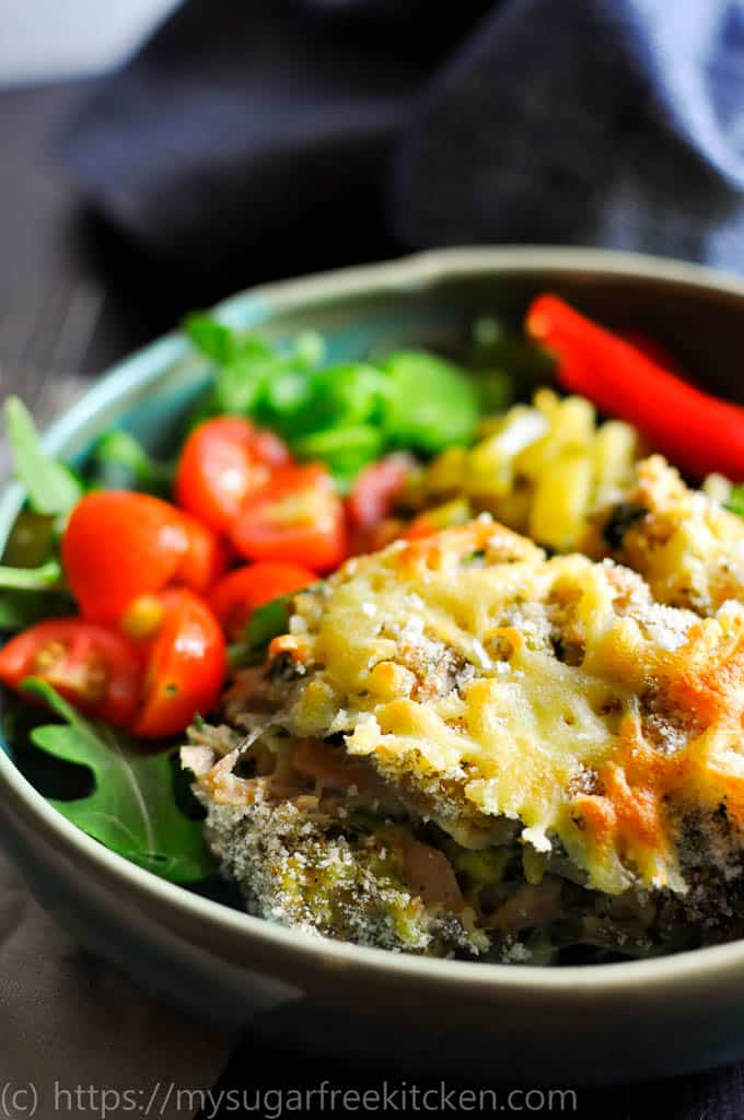 Healthy tuna pasta bake with kale and broccoli recipe