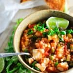 Easy and Healthy One Pot Spicy Fish Stew on the table in less than 30 minutes   High Protein   Low Fat   Under 400 Calories