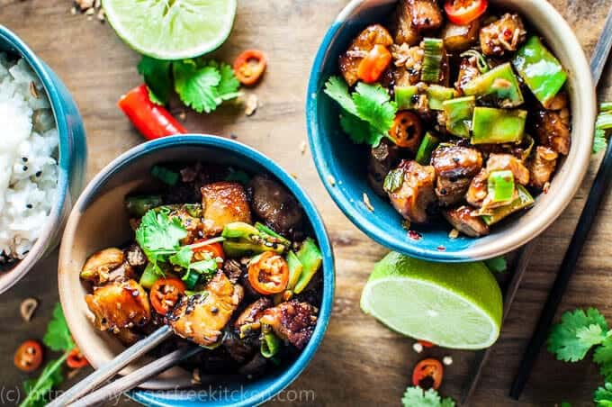 Asian Hot and Sour Pork with coconut rice | packed with flavour | under 400 calories