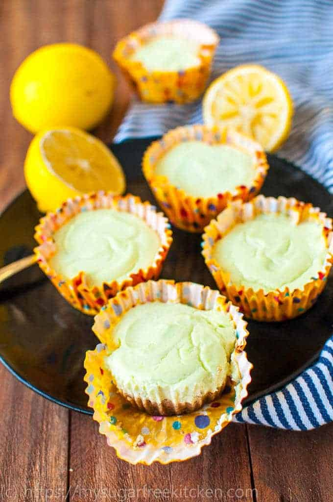 Fresh and zest sugar free lemon cheesecake recipe that is rich and creamy and only 150 calories pr slice