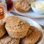 Naturally sweetened apple, cinnamon and ginger muffin recipe | sugar free | 109 calories per serve