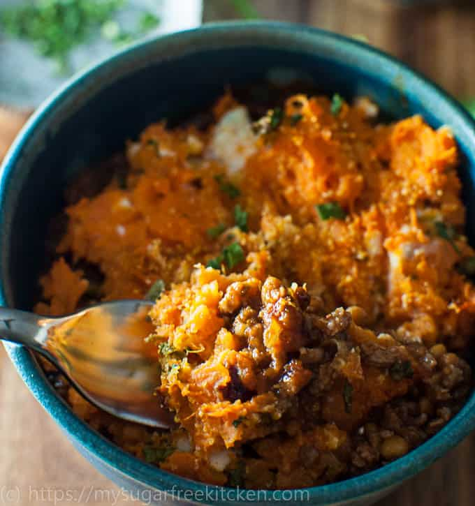 Healthy,, fast and easy Sweet Potato Shepherds Pie Recipe on you table in 30 minutes