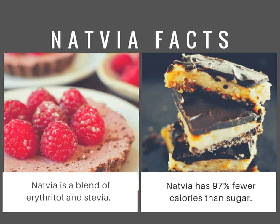 Natvia stevia seetener measures like sugar and has no bitter aftertaste.