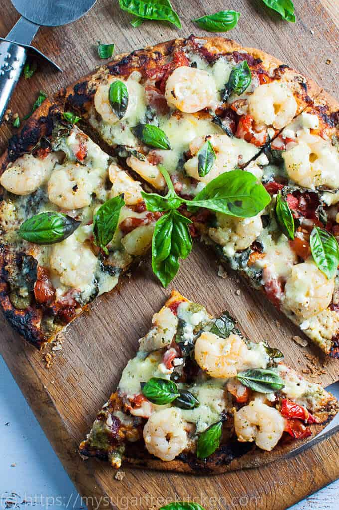 Garlic Prawn Pizza Slice