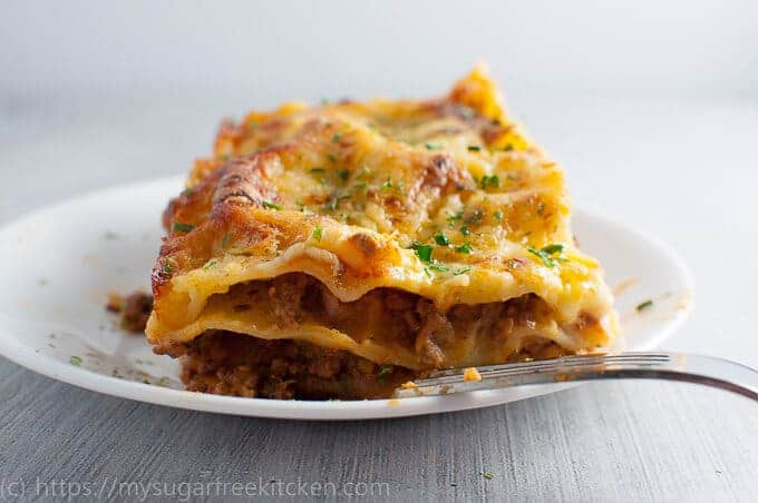 Lasagne without ricotta is deliciousness on a plate and perfect for healthy weekend dinners.