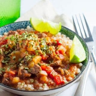 Delicious one pot moroccan beef stew slow cooked for 8 hours