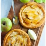 Apricot Glazed Apple Tart on Puff Pastry