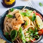 Lemon Garlic Prawns and Spaghetti Pasta