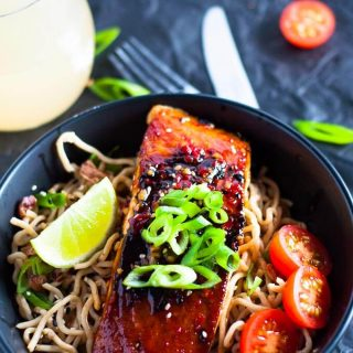 Easy and packed with flavour, this Chilli Soy Salmon with Sesame Noodles is on the table in under 30 minutes