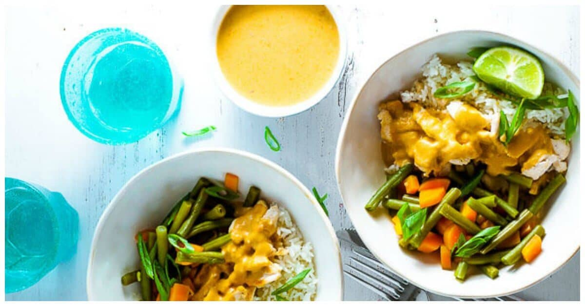 Chicken Satay Curry With Rice And Steamed Veg My Sugar Free Kitchen
