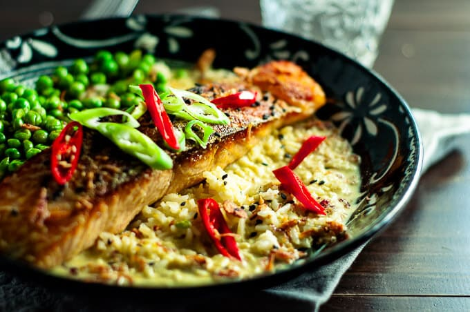 Salmon curry in a hurry is a simple no nonsense dish, perfect for midweek dinners