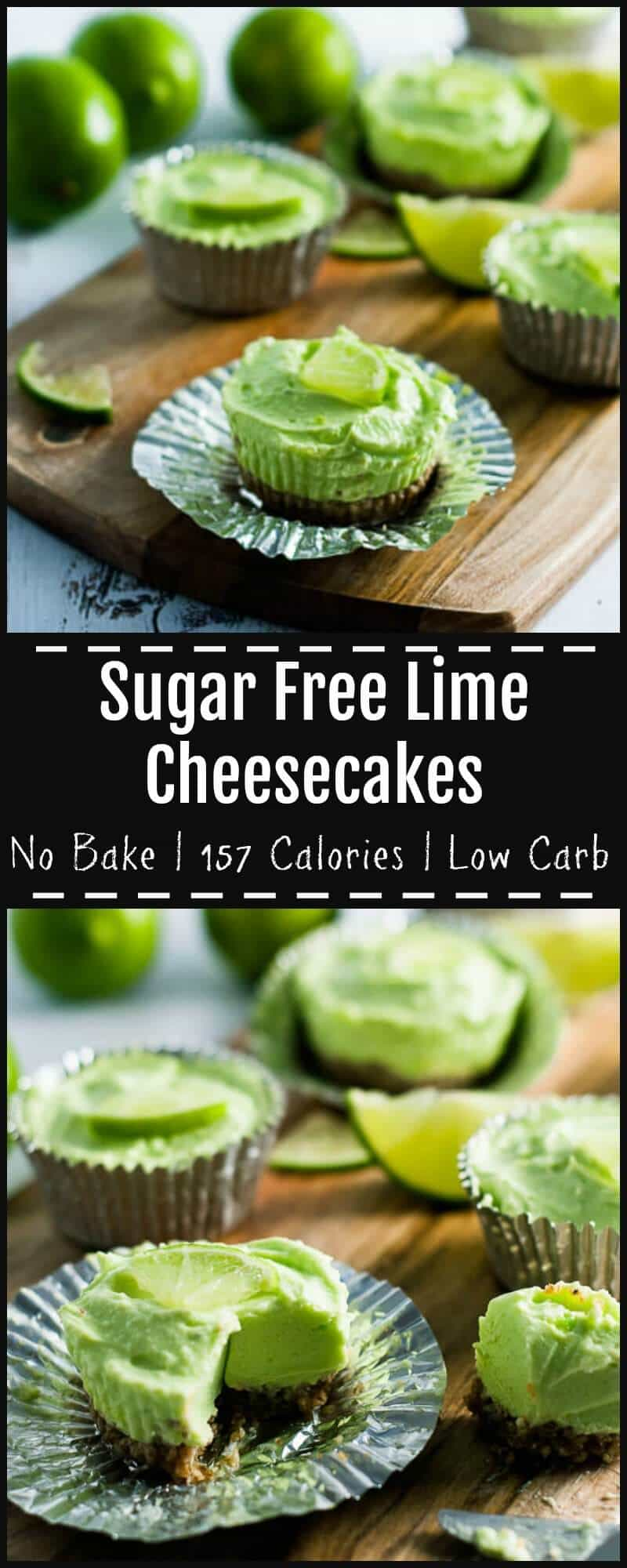 This sugar free lime cheesecake is deliciously light, rich and creamy, with a crunchy nutty toasted walnut base. Low carb, stevia sweetened. 157 Calories.