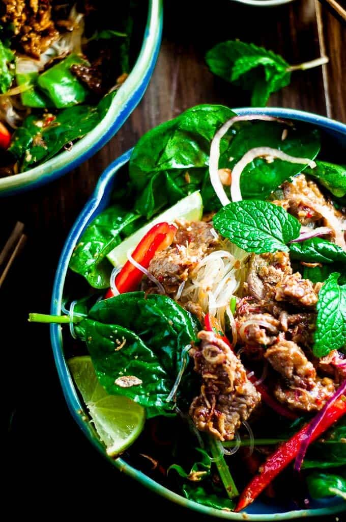 Sweet, spicy, tangy and citrusy, this Crunchy Thai Beef Salad is a must for easy weeknight dinners.