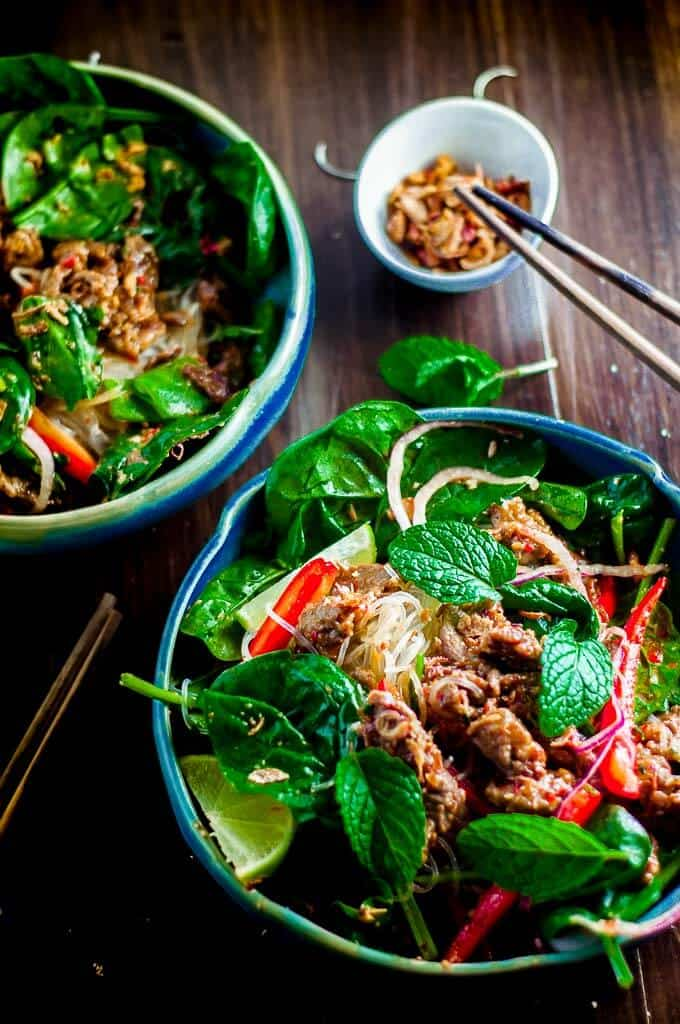Easy and tasty Crunchy Thai Beef Salad