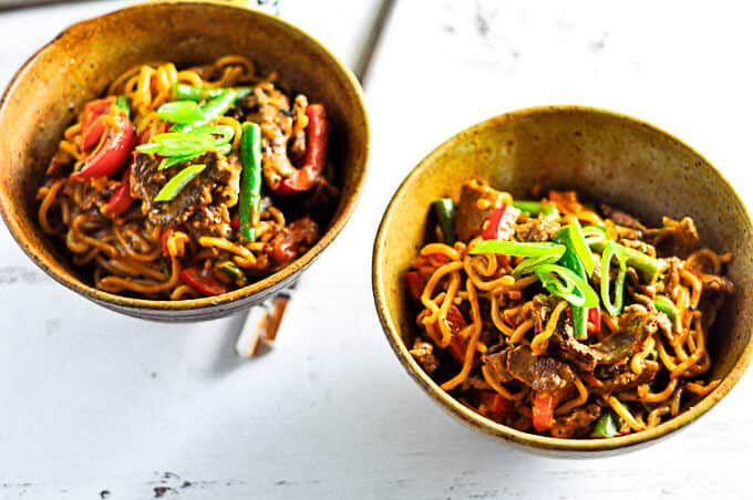 Easy and quick Beef Curry Satay Noodle