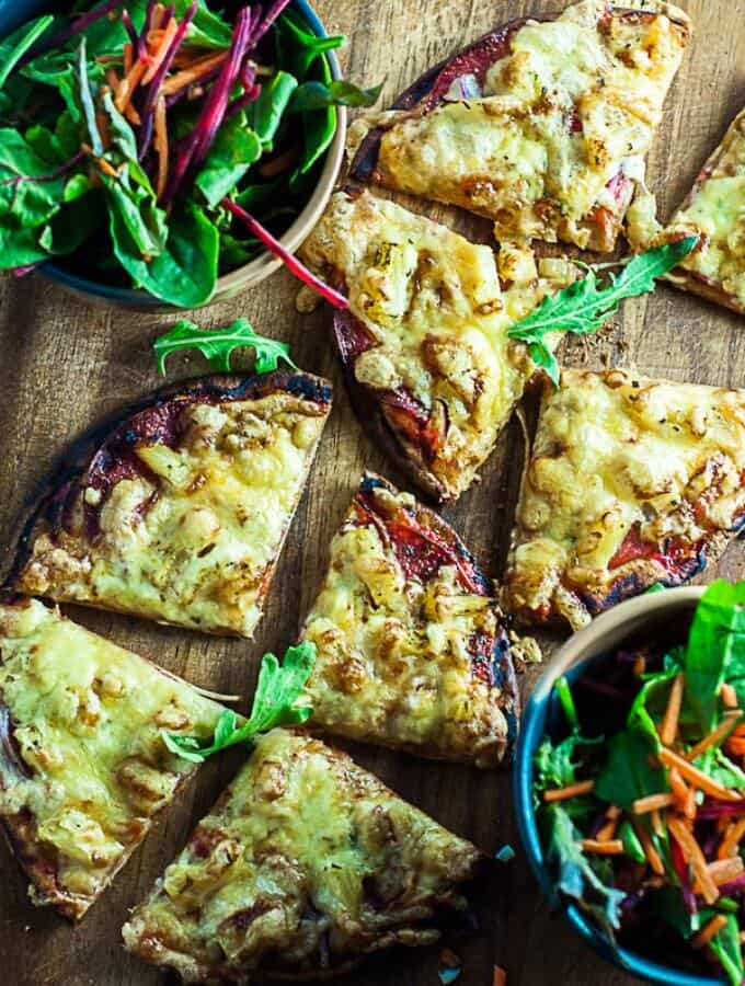 Easy pocket bread pizza on the table n 30 minutes