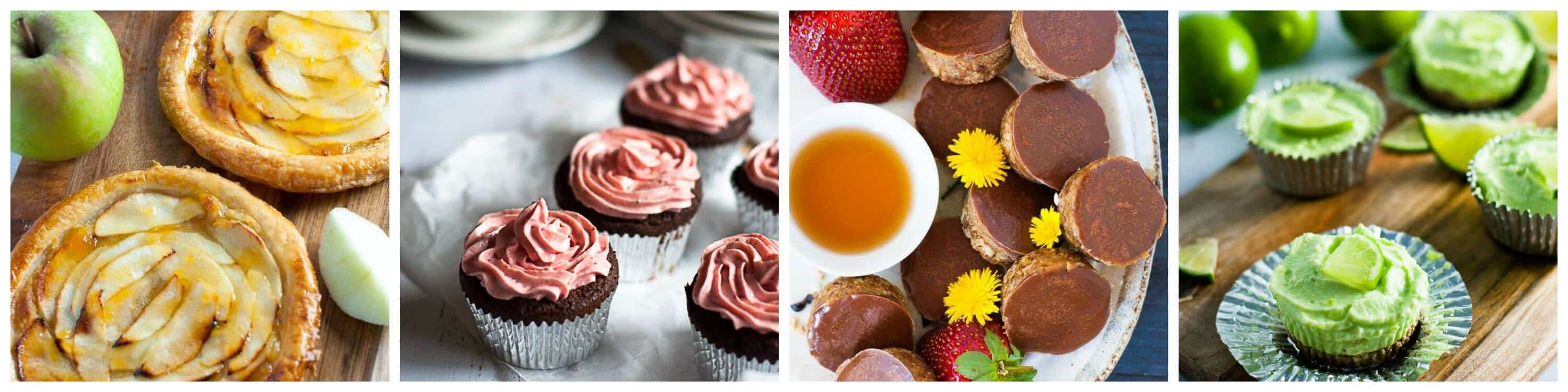 Healthy sugar free dessert collage