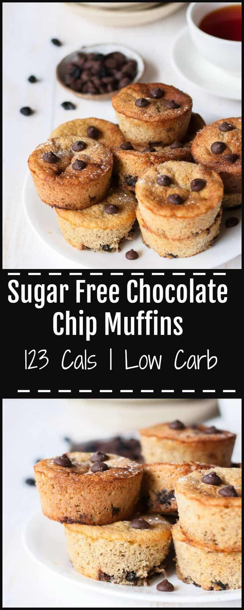 These sugar free chocolate chip muffins are an easy and guilt free alternative to store bought sugary snacks. They are quick to make and perfect as a snack on the go or for school and work lunchboxes.