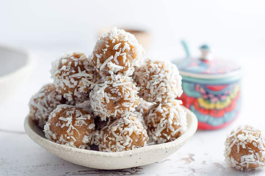Up close date free bliss balls