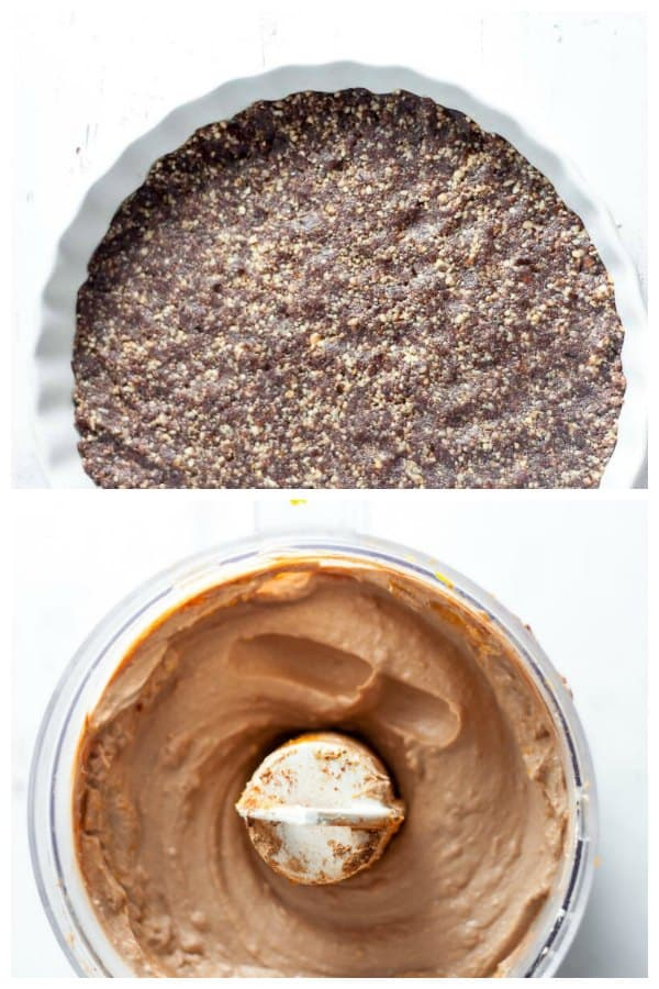 Jaffa cheesecake base and filling